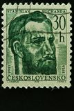 Czechoslovakian postal stamp Stock Image