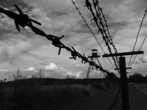 Czechoslowak iron curtain Stock Photos