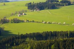 Czech countryside Royalty Free Stock Photography