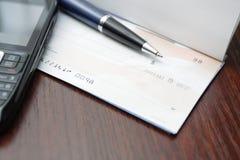 czek biznesowy pojęcie Zdjęcia Stock