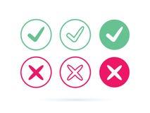 Czek oceny logo ikona lub wektor Kleszczowy symbol w zielonego koloru ilustraci Akceptuje okey symbol dla approvement lub cheklis ilustracja wektor