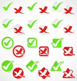 czek oceny majcherów wektor Zdjęcie Royalty Free