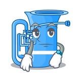 Czekać miniaturowego tuba w kształt kreskówce ilustracja wektor