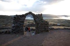 Czekać pięknego colourful zmierzch nad Jeziornym Titicaca obraz royalty free