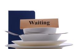 Czekać stół Zdjęcia Royalty Free