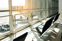 Czekać w lotnisku obrazy stock