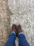 Czekać buty Zdjęcia Stock
