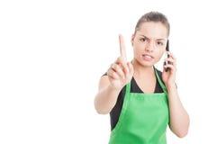 Czeka minutowego pojęcie z żeńskim pracownikiem Obraz Royalty Free