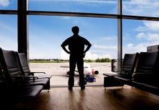 czekaj na lotnisku Obraz Stock