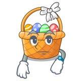 Czekania Easter kosz nad drewniany kreskówka stół ilustracja wektor