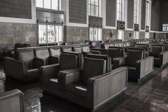 Czekania i miejsca siedzące terenu zjednoczenia stacja Fotografia Royalty Free