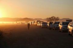 Czekania Sossusviel brama Namibi Fotografia Stock