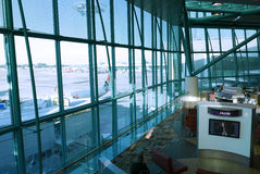 Czekanie hol Singapur Changi lotnisko Zdjęcie Stock