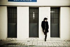czekanie kobieta Fotografia Royalty Free