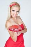 czekolad dzień dziewczyny ładni valentines Obrazy Stock