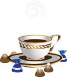 czekolad filiżanki ilustracje biały Zdjęcie Stock