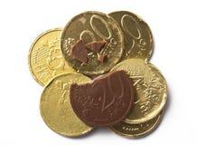 Czekolad monety fotografia royalty free