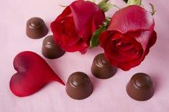 czekolad róże Zdjęcie Royalty Free