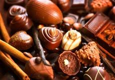 Czekolada asortyment Praline czekolady cukierki Obraz Royalty Free