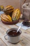 Czekolada i kakao fotografia stock