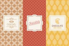 Czekolada i kakaowy pakować ilustracja wektor