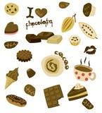 czekolada ja kocham ilustracji