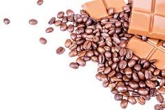 Czekolada, kawa, bonu apetyt Obraz Royalty Free