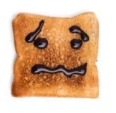 Czekolada na wznoszącym toast chlebie Zdjęcia Stock