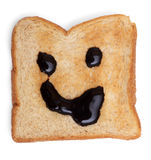 Czekolada na wznoszącym toast chlebie Obraz Stock