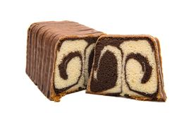 czekolada odizolowywająca rolka obraz stock