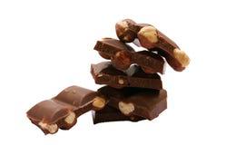 czekolada stos Zdjęcia Royalty Free