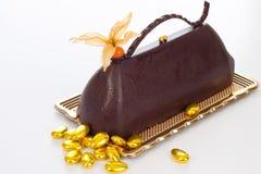 czekolada tortowy talerz Obrazy Stock