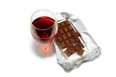 czekolada wino Zdjęcie Royalty Free