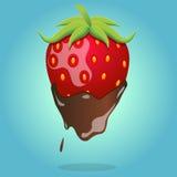 czekolada zakrywająca truskawka Ilustracji