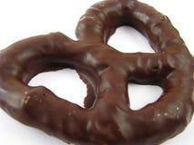czekolada zakrywający precel Zdjęcie Stock
