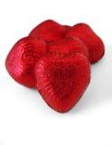 czekoladki 1 serce w drogę Fotografia Royalty Free