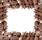 czekoladki rama zdjęcia royalty free