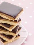 czekoladki shortbread karmel Zdjęcie Stock