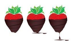 czekoladki zanurzyć truskawki Obrazy Royalty Free