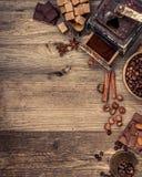 czekoladki ziaren kawy Fotografia Royalty Free