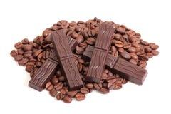 czekoladki ziaren kawy Zdjęcia Stock