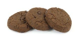 czekoladowa ciastek diety kopia uwalnia cukier Zdjęcia Royalty Free