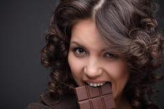 czekoladowa dziewczyna Fotografia Stock