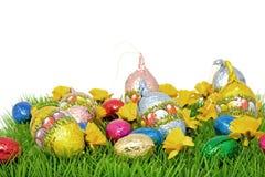 czekoladowa Easter jajek trawa Obrazy Stock