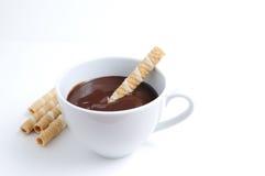 czekoladowa filiżanka Zdjęcia Royalty Free