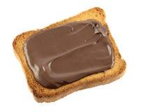 czekoladowa grzanka Zdjęcia Royalty Free