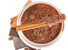 czekoladowa koktajlu mleka pikantność Zdjęcie Stock