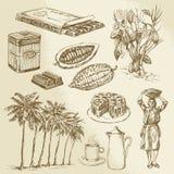 Czekoladowa kolekcja royalty ilustracja
