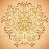 Czekoladowa kwiecistego ornamentu mandala tła karta ilustracja wektor