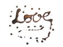 czekoladowa miłości Obrazy Stock
